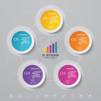 Élément infographique de graphique de cycle