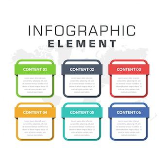 Élément infographique pour la conception à des fins commerciales