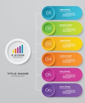 Élément infographique de présentation graphique