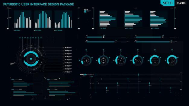 Élément d'interface utilisateur futuriste