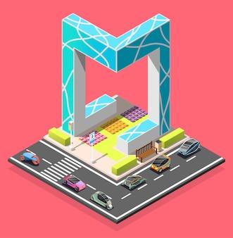 Élément isométrique du constructeur de la ville
