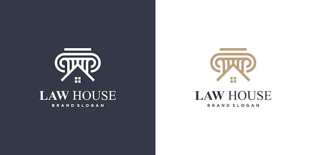 Élément de logo de loi avec un style unique vecteur premium partie 1