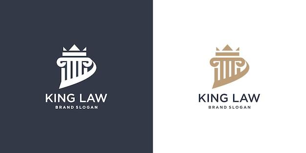 Élément de logo de loi avec un style unique vecteur premium partie 2