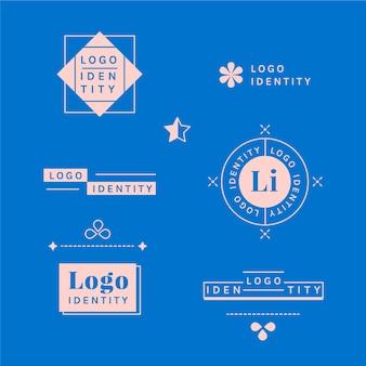 Élément de logo minimaliste en deux couleurs