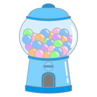 Élément de machine à chewing-gum mignon vecteur main dessiner matériel de machine à bonbons illustration de dessin animé