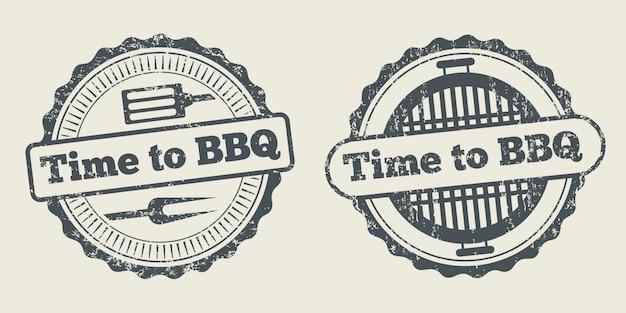 Élément de menu du restaurant steak house barbecue grill et grill label