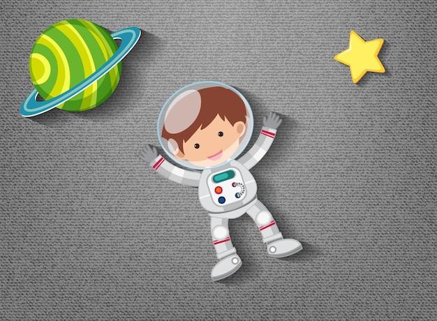 Élément mignon sur le thème de l'espace