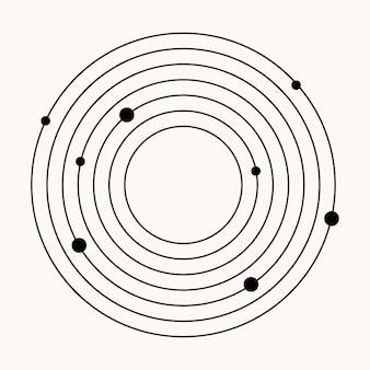 Élément minimaliste boho d'icône de groupe d'étoiles pour l'affiche.