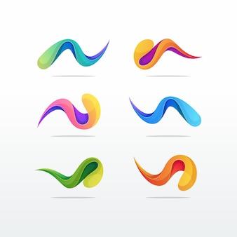 Élément de modèle de conception abstraite de logo icône mosaïque