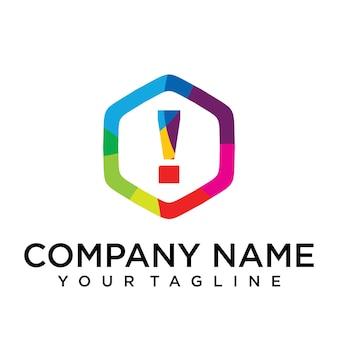 Élément de modèle de conception lettre interdite logo icon hexagon design