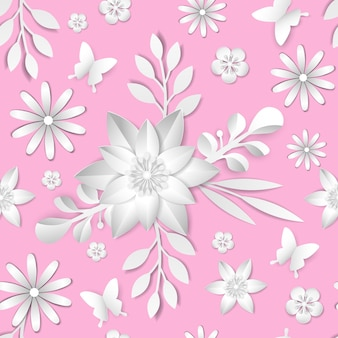 Élément de modèle sans couture de fleur de vectorabstract. texture élégante pour les arrière-plans. papier découpé.