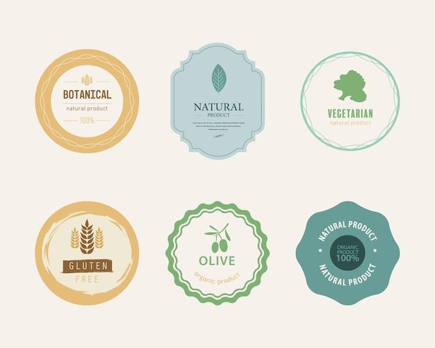 Élément naturel et organique logo couleur verte