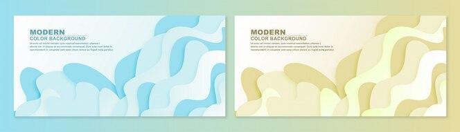 Élément de niveau diffusif 3d de papier ondulé abstraite pour la bannière de conception