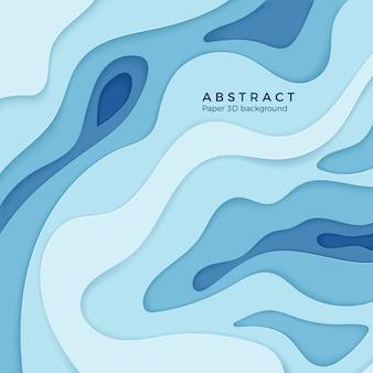 Élément de niveau diffusif abstrait papier ondulé pour bannière, affiche et brochure. décoration en papier découpé 3d texturée avec des couches courbes. contexte