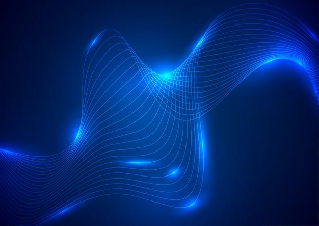 Élément d'onde néon abstraite pour la conception.