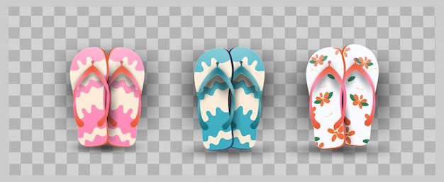 Élément de pantoufles flops élément d'été style 3d
