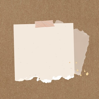 Élément de papier déchiré vecteur note autocollant