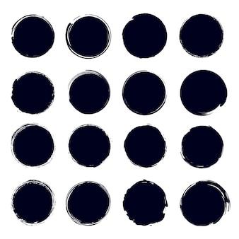 Élément de pinceau pour le cercle de peinture dessiné à la main.