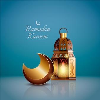 Élément de ramadan kareem réaliste