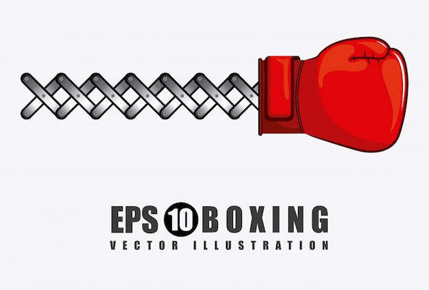 Élément simple de boxe