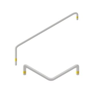 Élément de skatepark isométrique, rampe. infrastructure pour homme sportif à cheval sur la planche à roulettes. loisirs modernes pour les jeunes. illustration vectorielle de loisirs aire de jeux