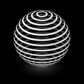 Élément de sphère abstraite