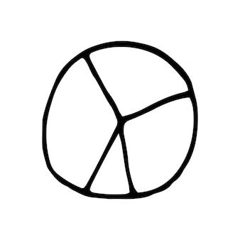 Élément unique du graphique dans l'ensemble d'affaires doodle. illustration vectorielle dessinée à la main pour cartes, affiches, autocollants et design professionnel.
