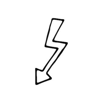 Élément unique de flèche dans l'ensemble d'affaires doodle. illustration vectorielle dessinée à la main pour cartes, affiches, autocollants et design professionnel.