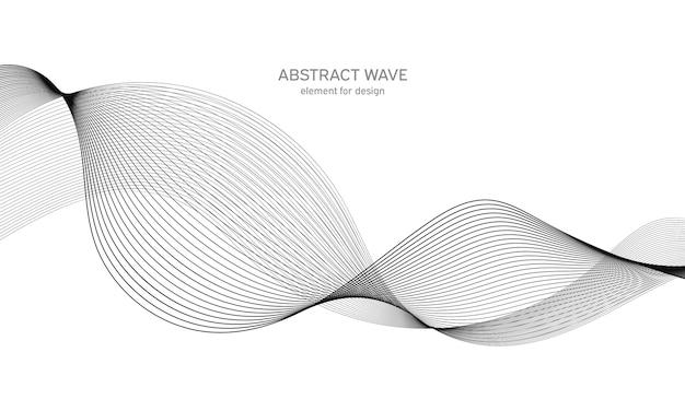 Élément de vague abstraite. égaliseur de piste de fréquence numérique.