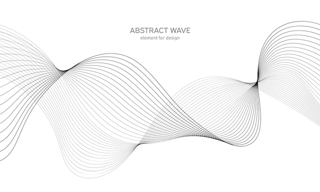 Élément de vague abstraite pour la conception. égaliseur de piste de fréquence numérique. fond d'art en ligne stylisé.