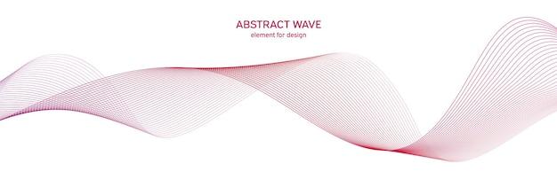 Élément de vague coloré pour la conception