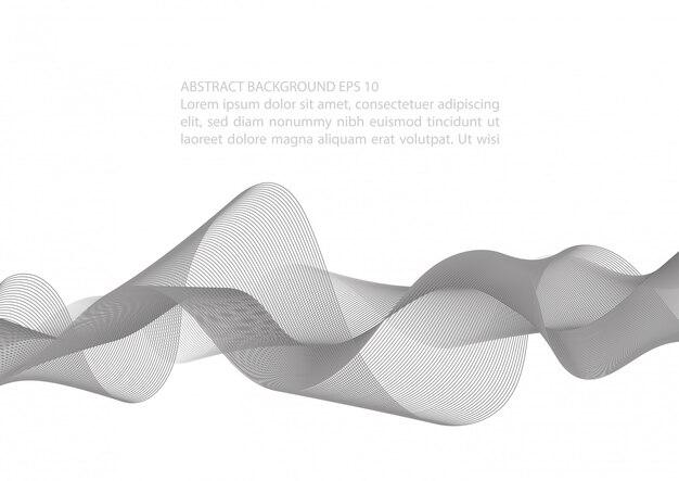 Élément de vague noir et blanc abstrait pour la conception