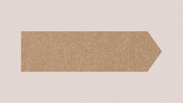 Élément de vecteur d'autocollants goodnotes, ruban washi marron