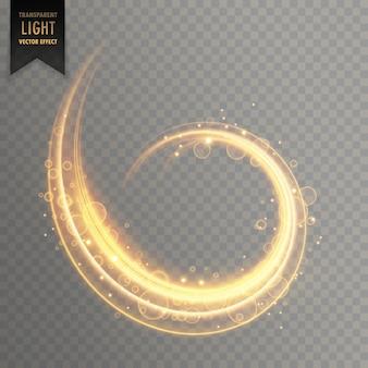 Élément de vecteur effet de lumière transparente