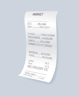 Élément de vérification bancaire réaliste