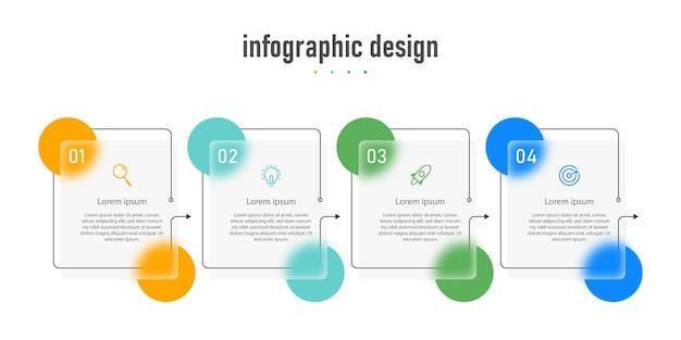 Élément de verres transparents de conception infographique créative