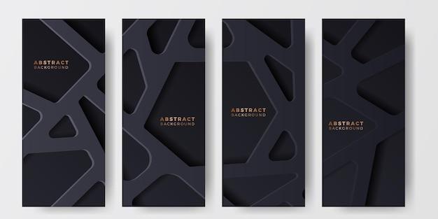 Élément web net de cage de fond élégant de luxe noir pour le modèle de bannière d'histoires de médias sociaux
