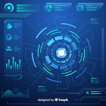 Elementos gráficos futuristas