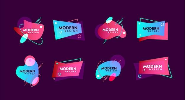 Éléments abstraits colorés modernes de différentes formes