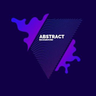 Éléments Abstraits Vectoriels Avec Des Vagues Dynamiques. Illustration Adaptée à La Conception Vecteur Premium