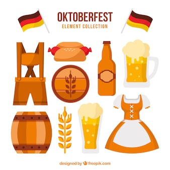 Éléments allemands de fête de la bière