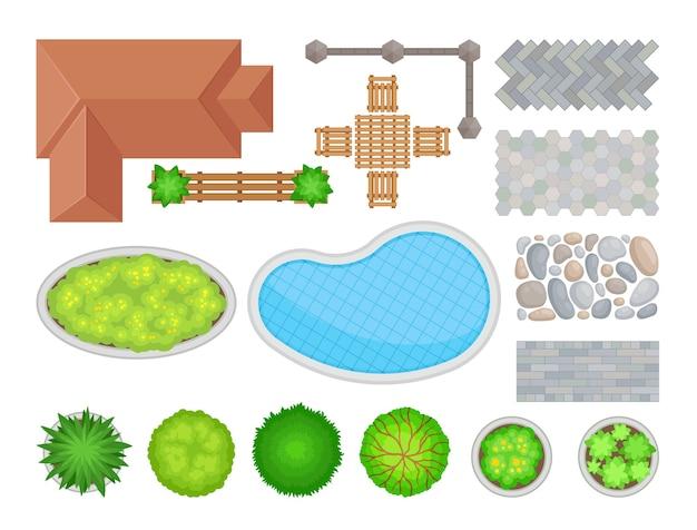 Éléments d'aménagement paysager