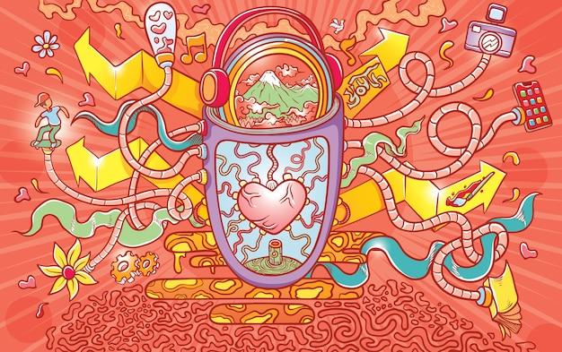 Éléments d'amour abstrait
