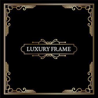 Éléments art déco antiques de luxe grandes bordures dorées cadres coins diviseurs et en-têtes
