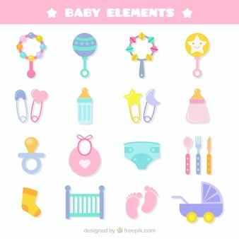Éléments de bébé nouveau-né