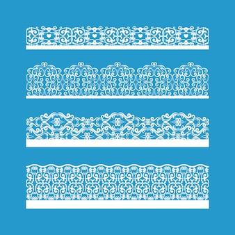 Éléments de bordures vintage décoratifs vectoriels