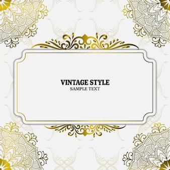 Éléments et cadres de décorations vintage