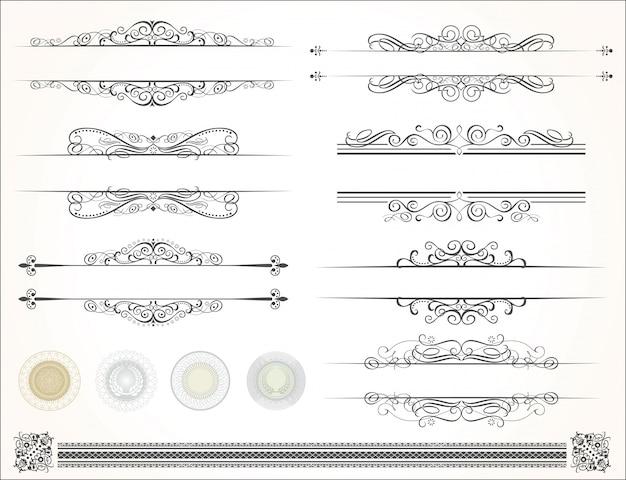 Éléments de calligraphie design décoratif