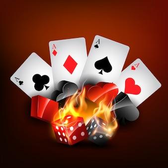Éléments de casino réalistes