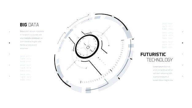 Éléments de cercle de technologie futuriste 3d.